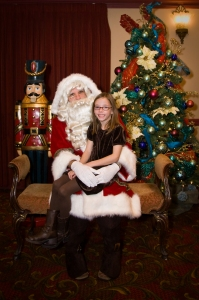 Samantha and Santa